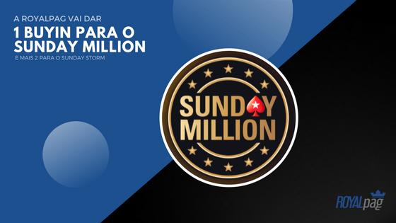 Quer ganhar um BUYIN para o Sunday Million?