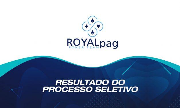 Aprovados no processo seletivo no ROYALpag Poker Team
